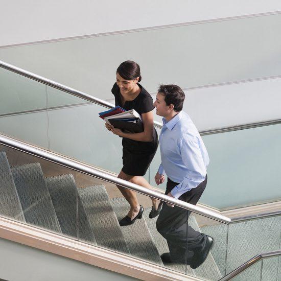 usar escaleras