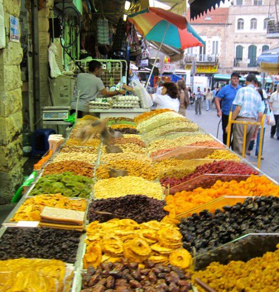 mercado especias jerusalem