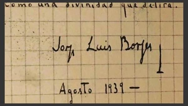 manuscrito de Borges