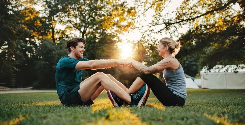 stretching en pareja