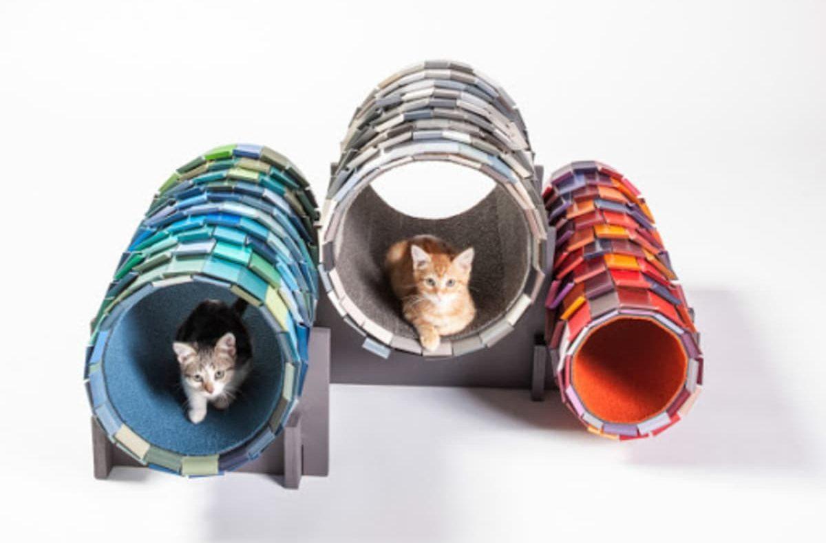 elegantes refugios para gatos