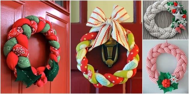 adornos navideños para la puerta