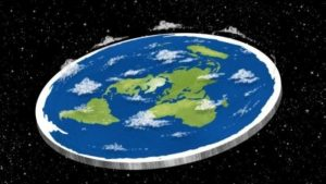 representación tierra plana
