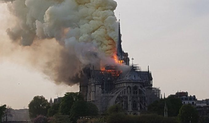 Catedral de Notre dame incendio