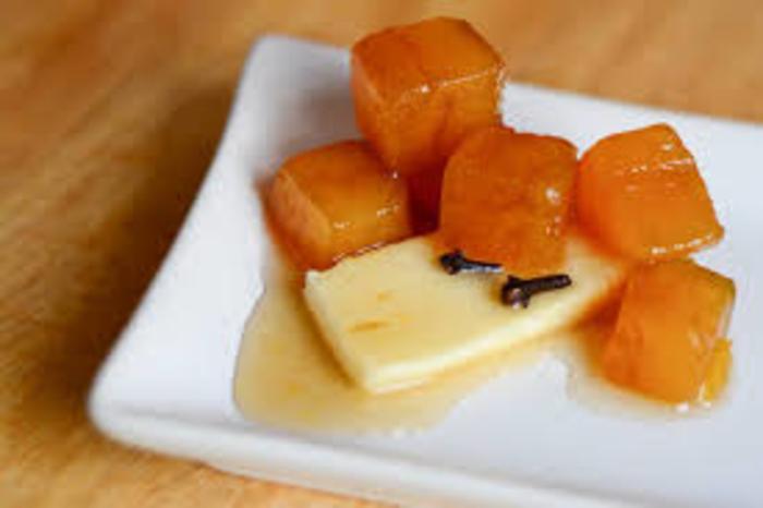 zapallo en almibar con queso