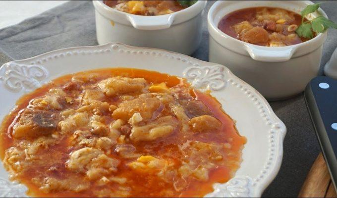 Receta española sopa de ajo