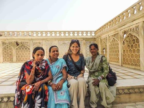 turistas en india