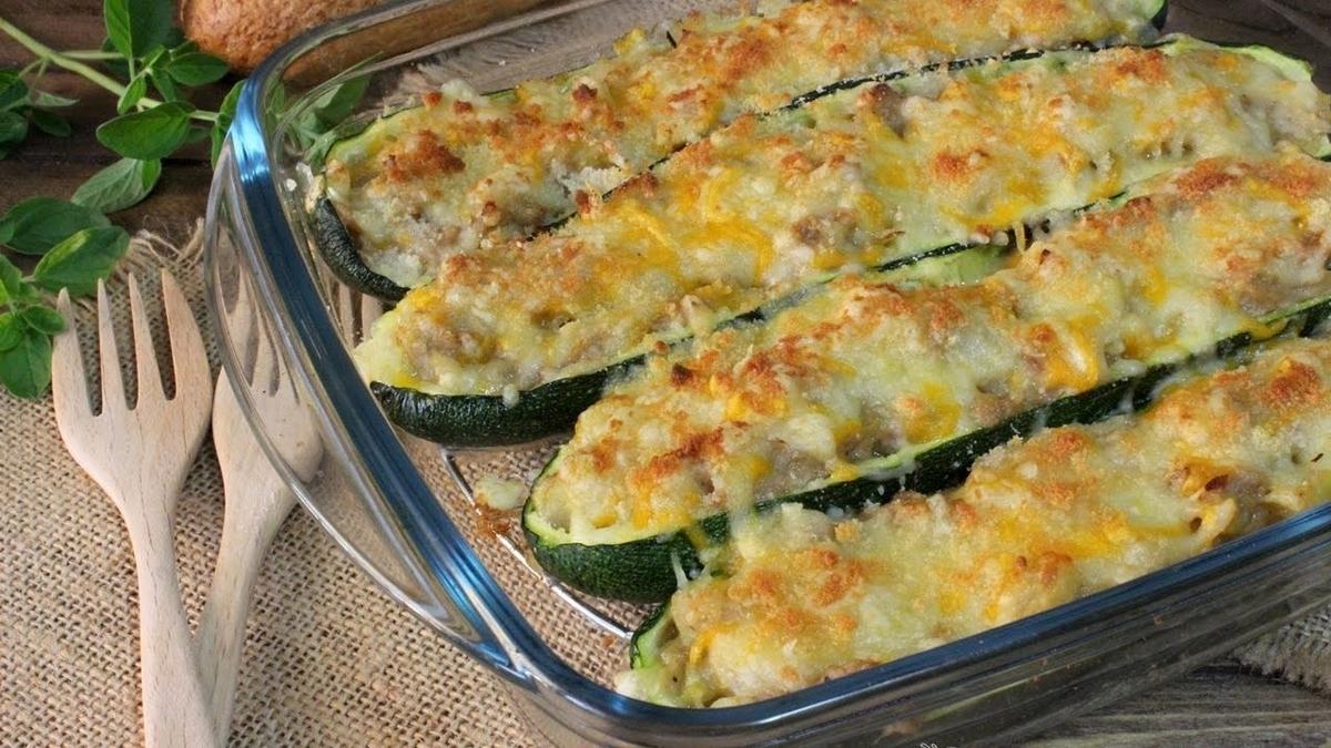 zucchinis rellenos de atun