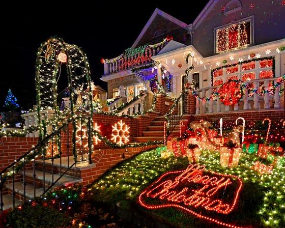 casas iluminadas navidad