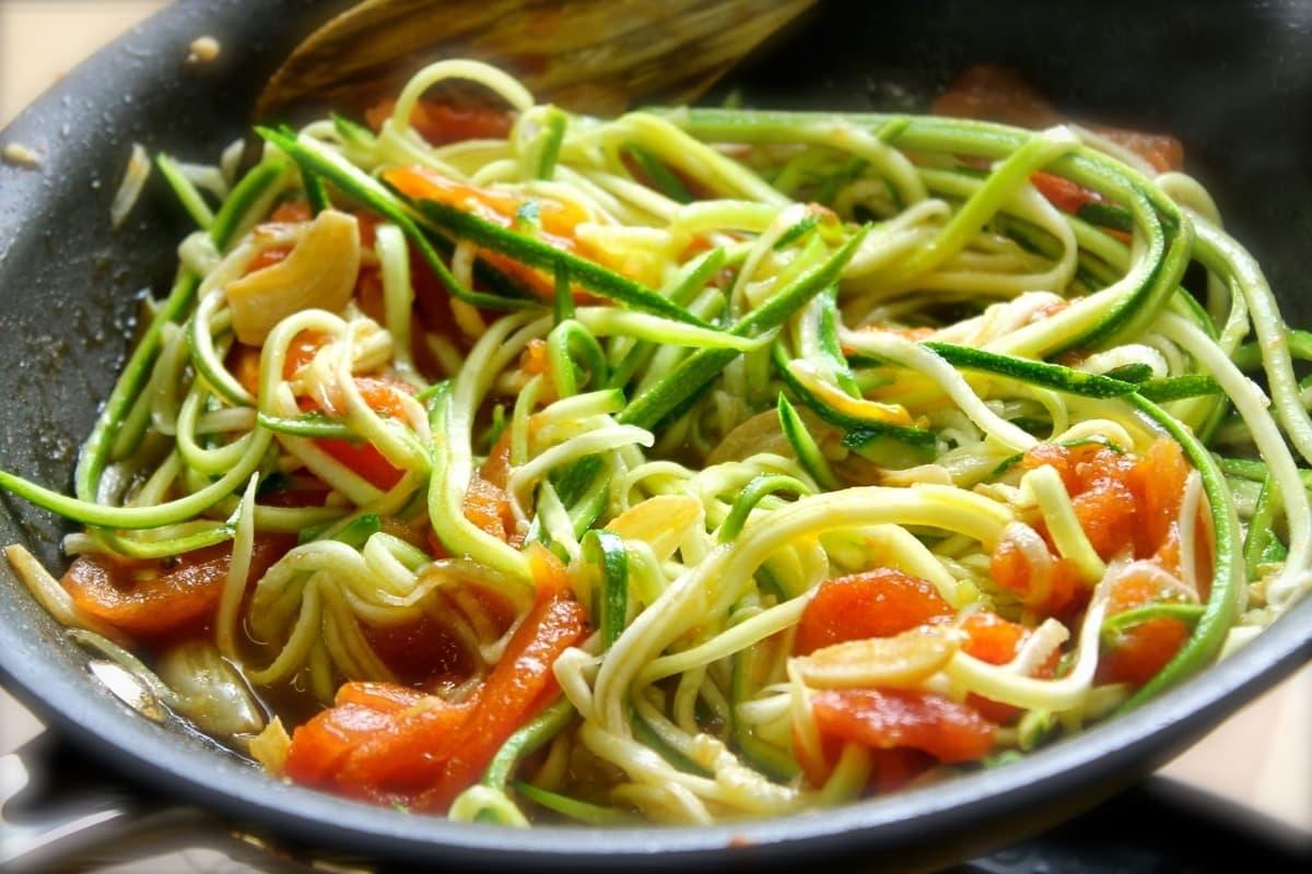 fideos de zucchini