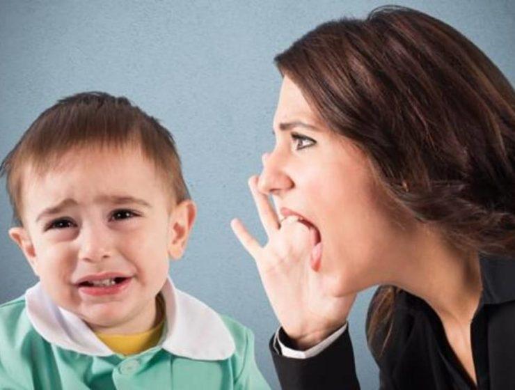 maltrato verbal a los niños