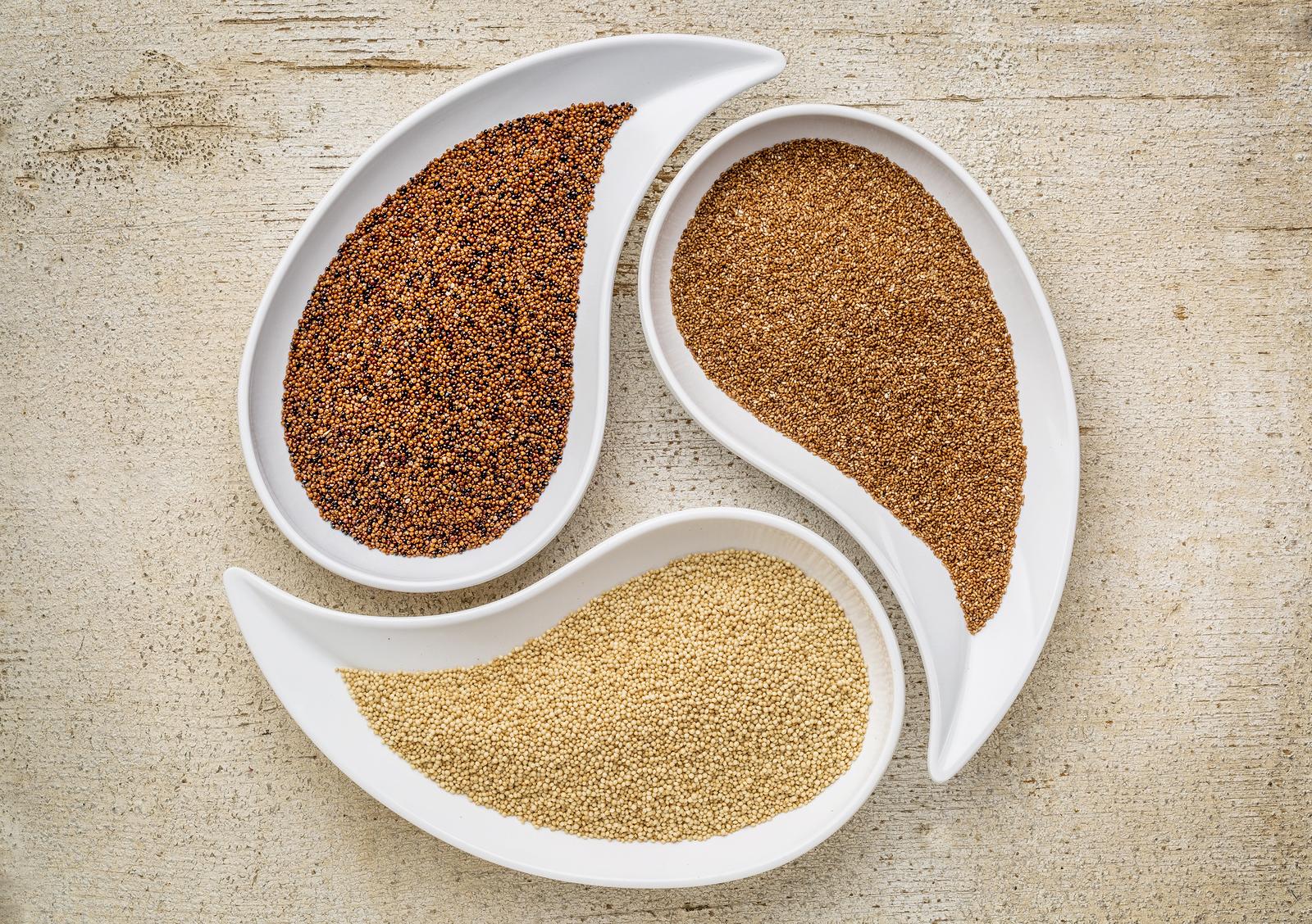 granos y cereales sin gluten