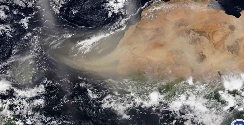 nube de polvo caribe