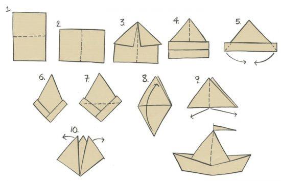 como hacer barco de papel
