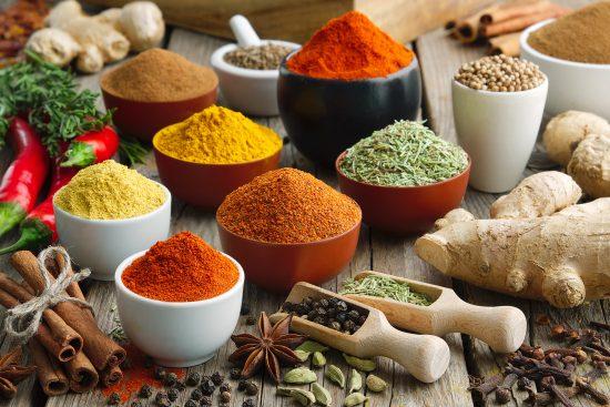 especias dieta termogenica