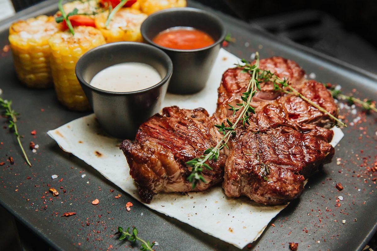 carne asada con verduras choclo