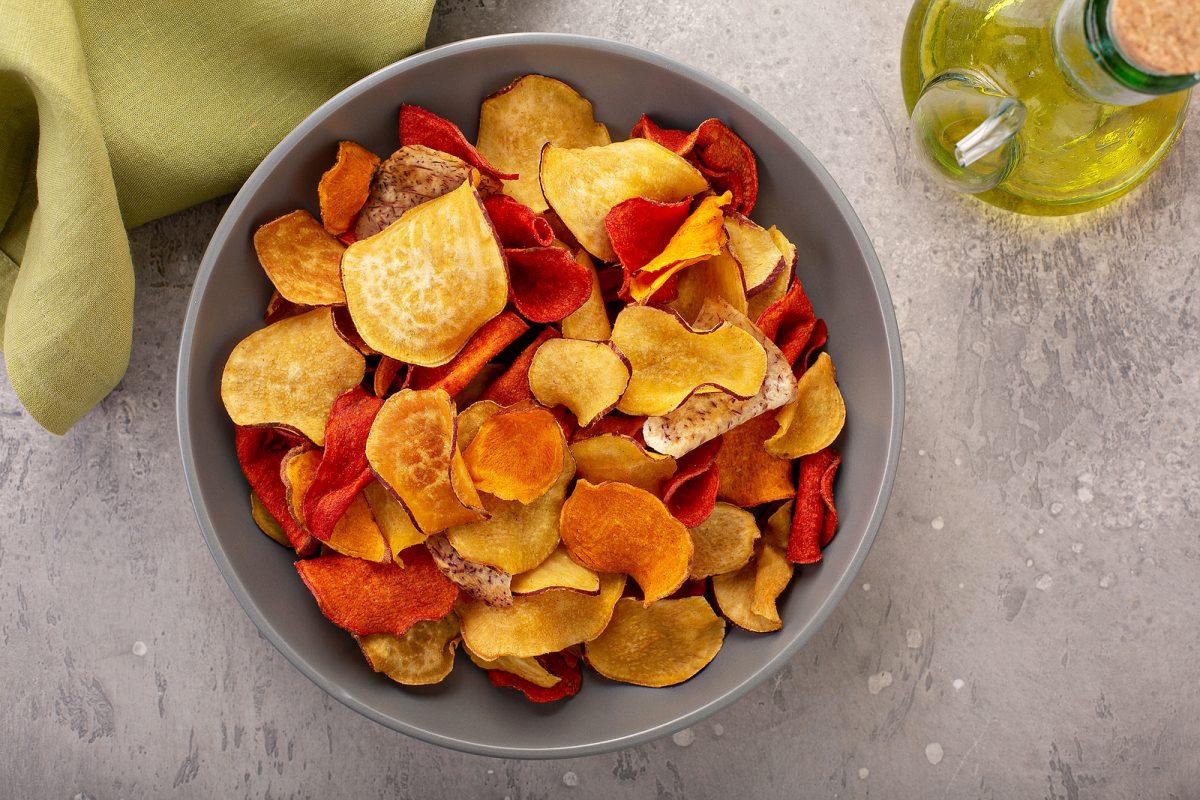 chips y snack de vegetales