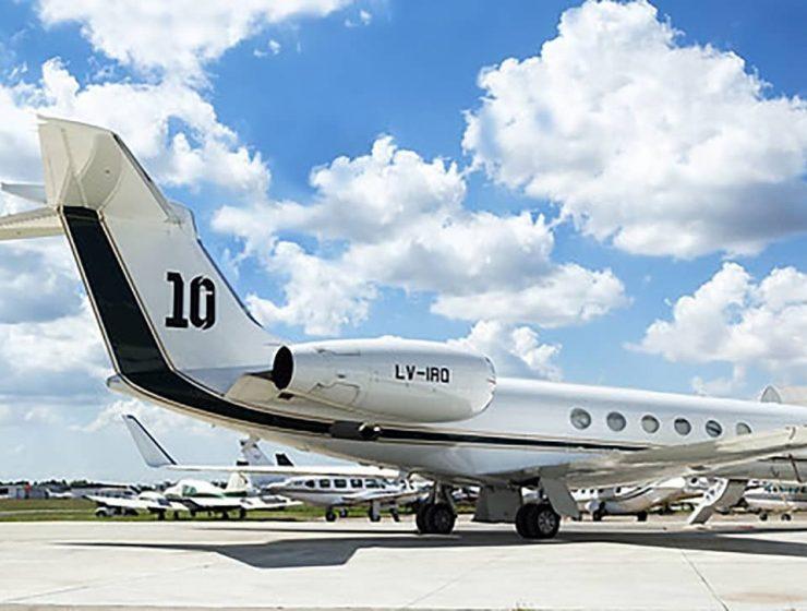 avion privado de messi