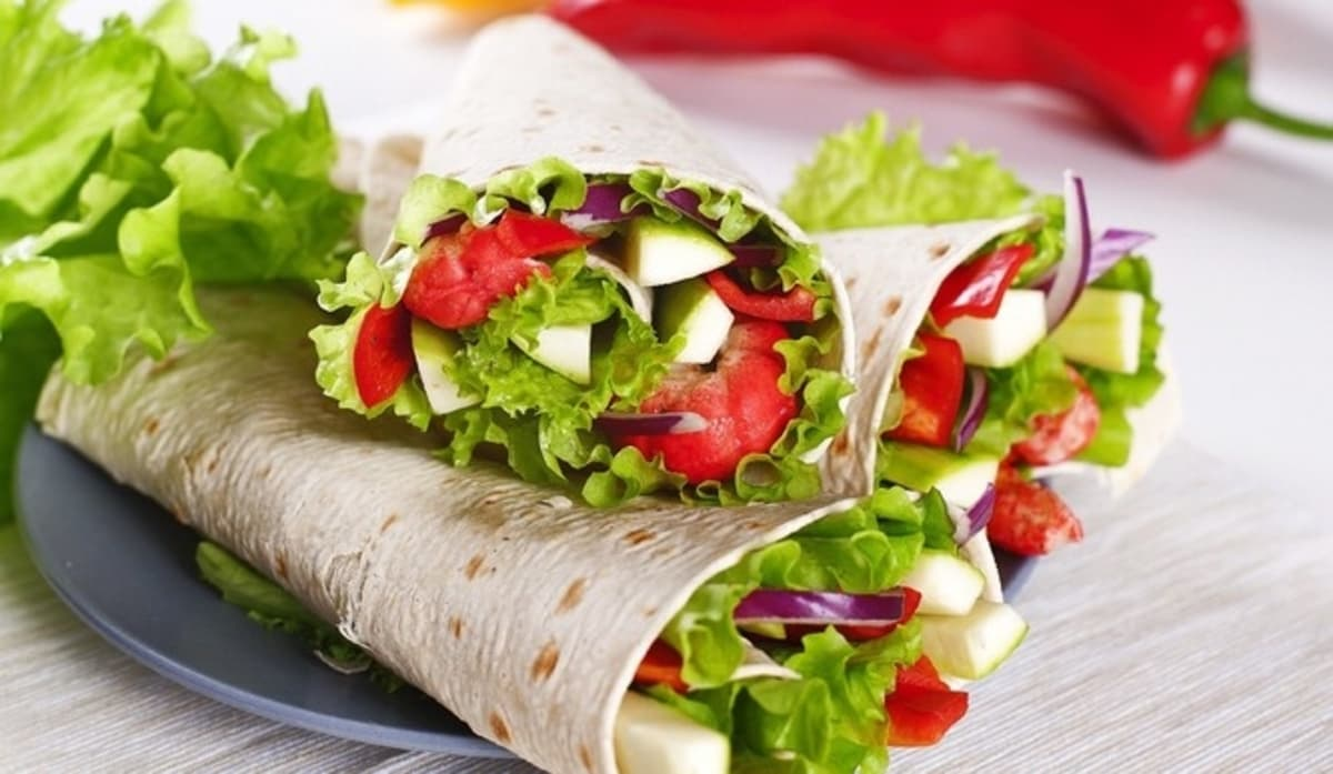 wraps vegetarianos