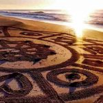 mandalas en la playa