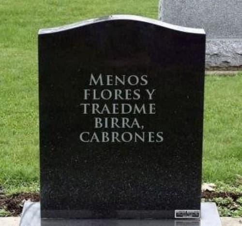 lápidas divertidas