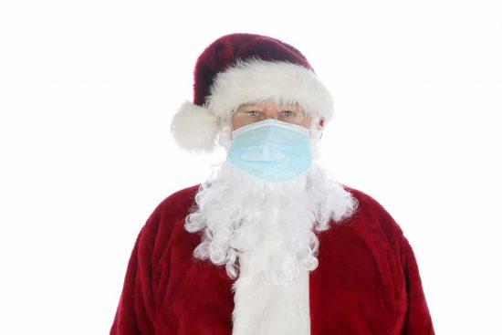 papa noel coronavirus navidad