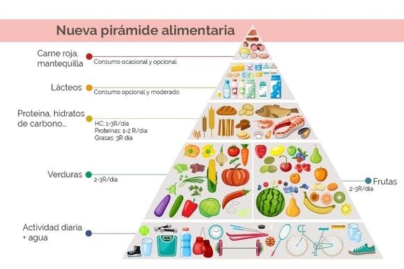 piramide alimentaria nueva harvard