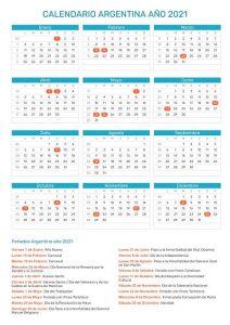 calendario feriado 2021