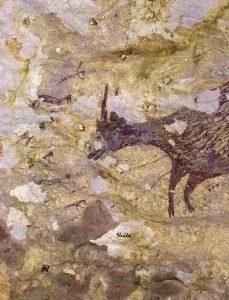 escena de caza
