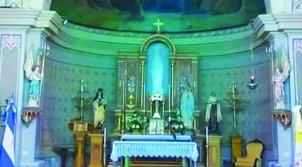 Virgen de Lourdes en Argentina: imagen que no esta pero todos la ven