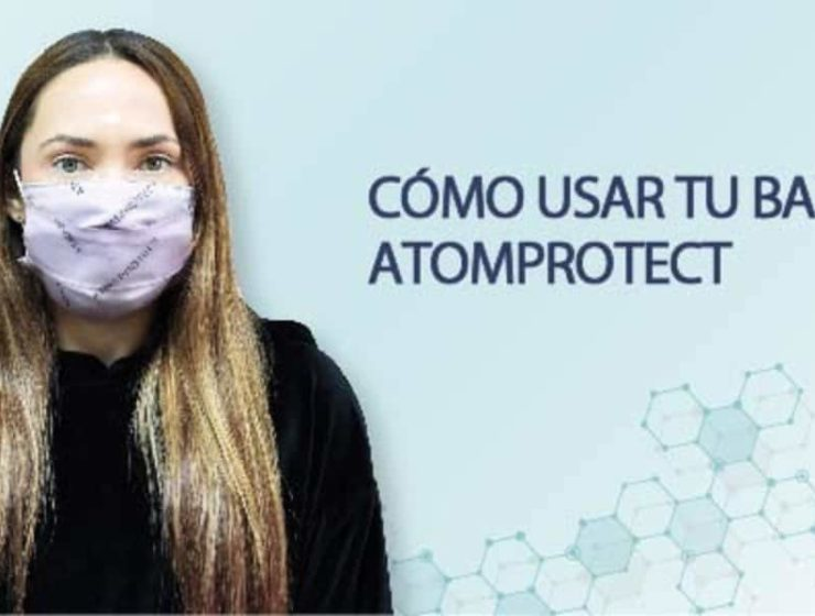 como usar barbijo atom protect