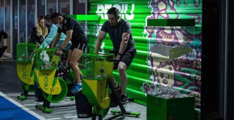 ReciU Bike bicicleta fija que recicla plastico