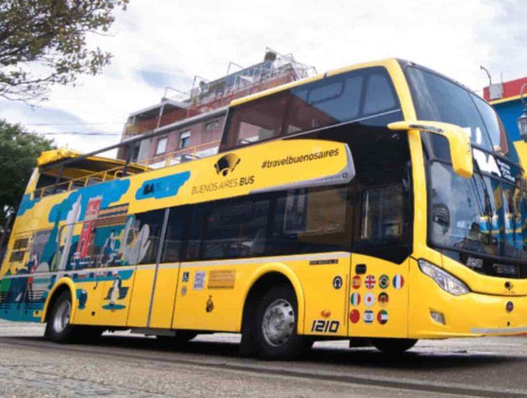 Vuelve el bus turistico a la ciudad de Buenos Aires